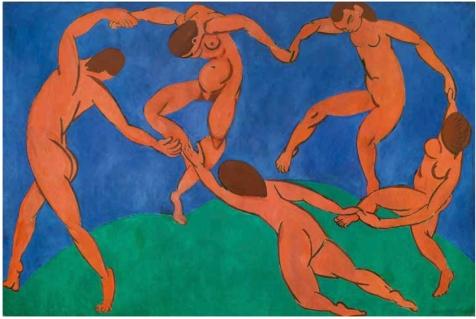 Henri Matisse. La Danse. 1909-1910. Musée de l'Ermitage. Saint Petersbourg.