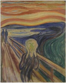 Edvard Munch. Le Cri. 1893 ? 1910 ? Musée Munch. Oslo.