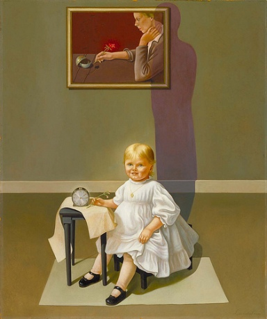 Helen Lundeberg, Double portrait of the Artist in Time, 1935